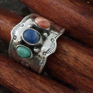 Jewelry - Southwestern Tri Stone Sterling Ring
